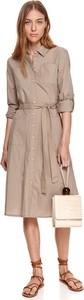 Sukienka Top Secret w stylu casual koszulowa z długim rękawem
