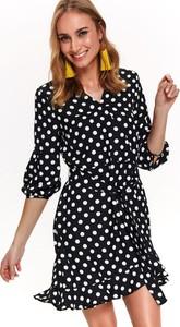 Czarna sukienka Top Secret z długim rękawem w stylu casual