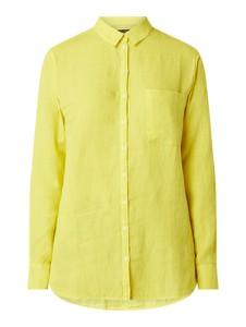 Żółta bluzka Marc O'Polo z długim rękawem z lnu