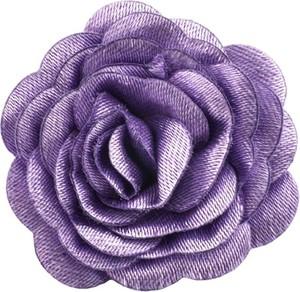 Em Men`s Accessories Wpinka do butonierki fioletowy kwiat EM 4