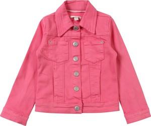 Różowa kurtka dziecięca Esprit z jeansu