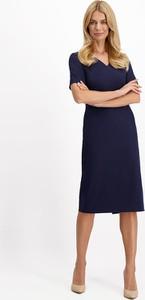 Sukienka Lavard midi trapezowa z tkaniny