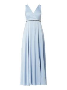 Niebieska sukienka Jake*s Cocktail z dekoltem w kształcie litery v bez rękawów
