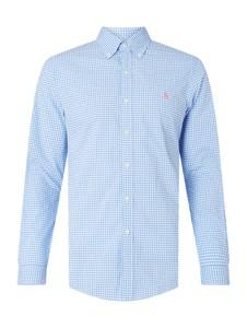 Niebieska koszula POLO RALPH LAUREN z bawełny z długim rękawem