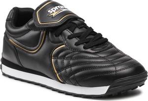 Czarne buty sportowe Sprandi w sportowym stylu sznurowane