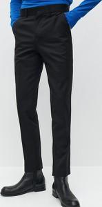 Czarne spodnie Reserved z wełny w stylu casual