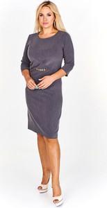 Sukienka Fokus midi z długim rękawem dla puszystych