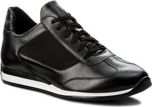 Czarne buty sportowe gino rossi ze skóry