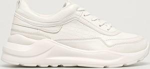 Buty sportowe Aldo ze skóry ekologicznej sznurowane z płaską podeszwą