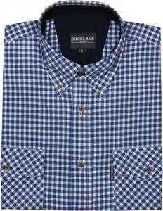 Niebieska koszula Dockland z krótkim rękawem