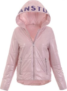 Różowa kurtka fasoni.pl w stylu casual krótka