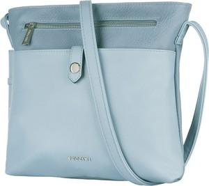 Niebieska torebka PUCCINI ze skóry ekologicznej na ramię