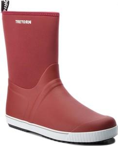 Czerwone kalosze Tretorn w stylu casual