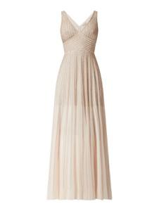 Sukienka Lace & Beads maxi z dekoltem w kształcie litery v z tiulu