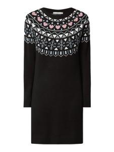 Sukienka edc by Esprit z długim rękawem z wełny w stylu casual