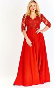 Sukienka Bosca Fashion z długim rękawem w stylu glamour