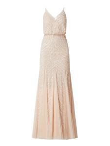 Sukienka Lace & Beads z dekoltem w kształcie litery v maxi na ramiączkach