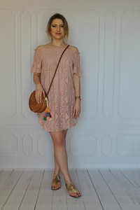 Sukienka arioso.pl hiszpanka z bawełny z długim rękawem