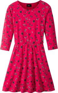 Czerwona sukienka dziewczęca bonprix bpc bonprix collection