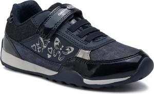 Niebieskie buty sportowe dziecięce Geox na rzepy