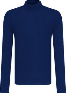 Niebieski sweter Hugo Boss w stylu casual z wełny