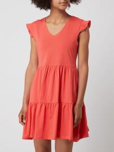 Sukienka Only z krótkim rękawem mini z dekoltem w kształcie litery v