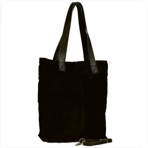 Czarna torebka GENUINE LEATHER ze skóry w stylu glamour