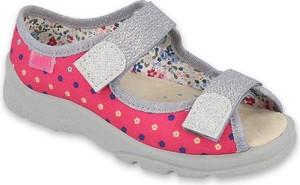 Buty dziecięce letnie Befado w groszki