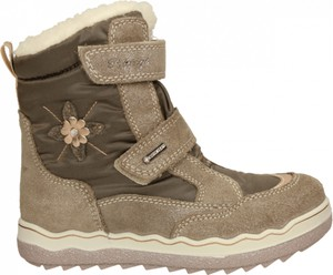 Brązowe buty dziecięce zimowe Primigi na rzepy z goretexu