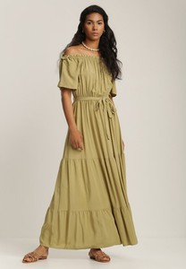 Zielona sukienka Renee trapezowa maxi