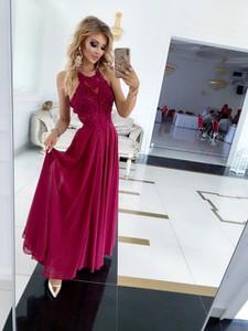 Sukienka E-sukienki.pl maxi bez rękawów