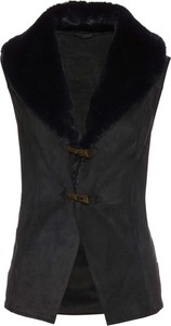 Czarna kamizelka bonprix bpc selection premium krótka w stylu casual