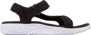 Czarne sandały Kappa na rzepy z płaską podeszwą