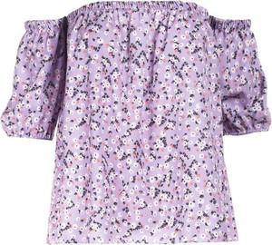 Fioletowa bluzka Multu z krótkim rękawem