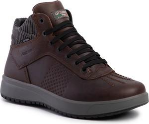 Brązowe buty zimowe Grisport sznurowane