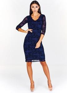 Sukienka Fokus z tiulu z długim rękawem