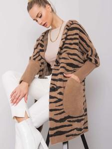 Brązowy płaszcz Sheandher.pl w stylu casual