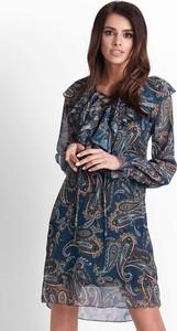 Sukienka Ivon z długim rękawem z szyfonu oversize