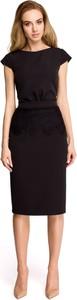 Sukienka Style z okrągłym dekoltem ołówkowa z krótkim rękawem