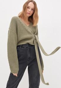 Zielony sweter House w stylu casual
