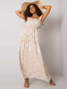 Sukienka Promese z dekoltem w kształcie litery v na ramiączkach maxi