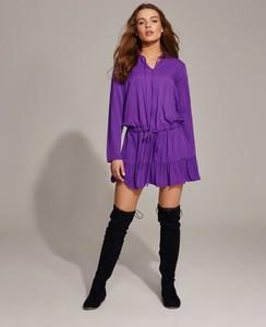 Fioletowa sukienka Diverse oversize