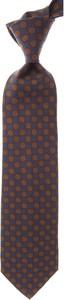Brązowy krawat Marinella z jedwabiu