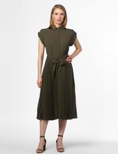 Zielona sukienka Ralph Lauren z kołnierzykiem z krótkim rękawem