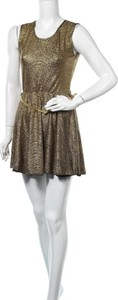Sukienka Voulez Vous mini bez rękawów z okrągłym dekoltem