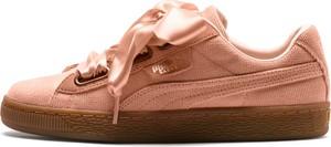 Buty sportowe Puma ze skóry z płaską podeszwą sznurowane