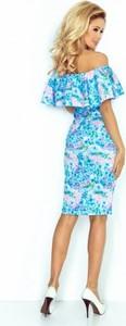 Sukienka NUMOCO hiszpanka midi z krótkim rękawem