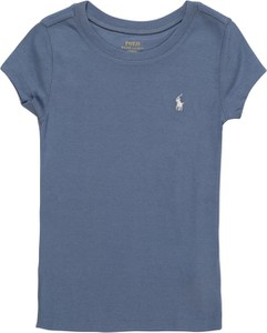 Niebieska bluzka dziecięca POLO RALPH LAUREN z dżerseju