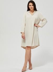 Sukienka Moodo koszulowa z długim rękawem