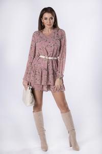 Sukienka Ptakmoda.com z długim rękawem z tiulu mini